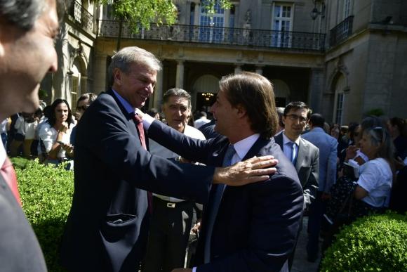 Sebastián Bauza y Luis Lacalle Pou. Foto: Fernando Ponzetto.