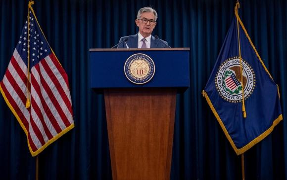 El presidente de la Fed, Jerome Powell, este martes en conferencia de prensa. Foto: AFP