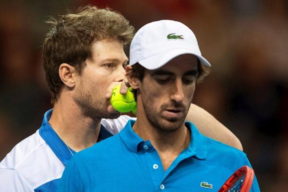 Ariel Behar y Pablo Cuevas en la Copa Davis