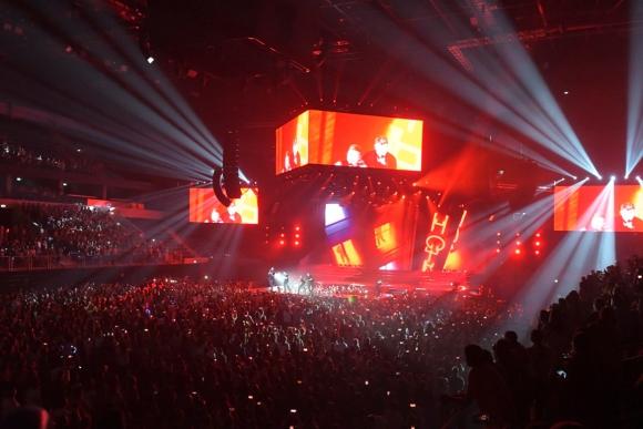 Los Backstreet Boys en el Antel Arena. Foto: Leo Mainé.