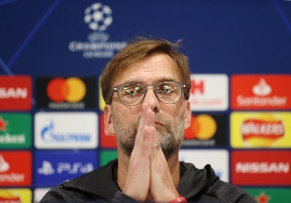 Jürgen Klopp en la conferencia de prensa del Liverpool