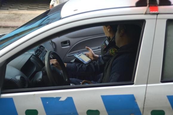 Patrullero de policía de Montevideo. Foto: Gerardo Pérez