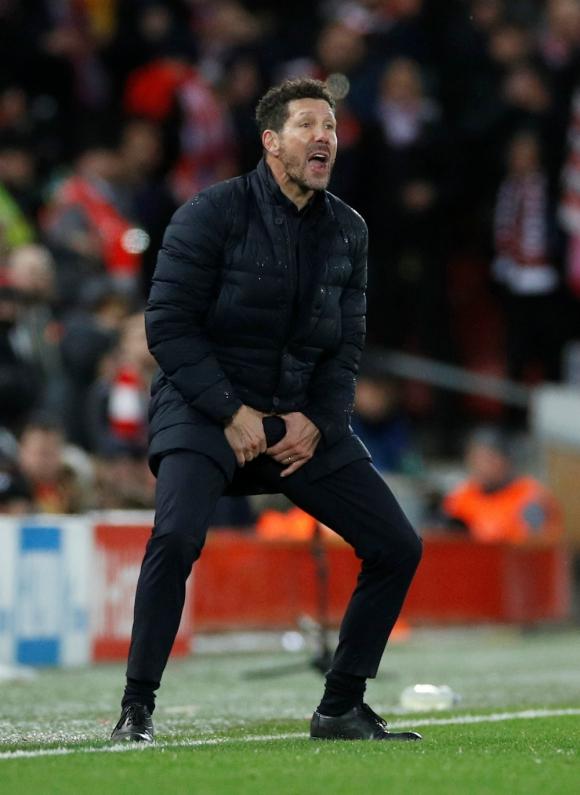 """El gesto del """"Cholo"""" que no gustó nada en Anfield"""