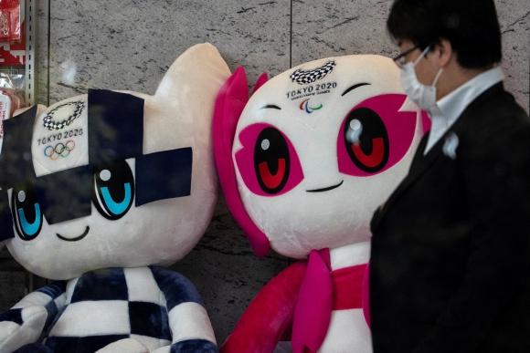 Las mascotas de los Juegos Olímpicos de Tokio 2020. Foto: AFP.