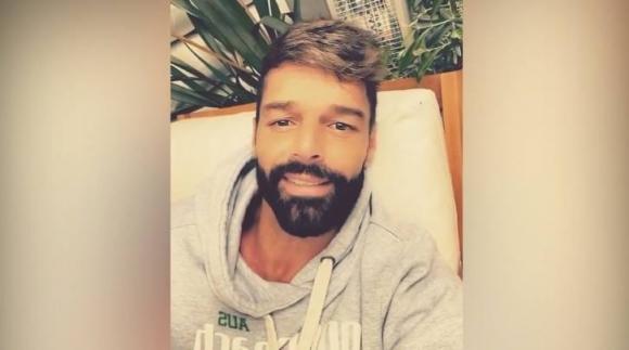 Ricky Martin envió un mensaje a sus fanáticos. Foto: Captura de Instagram.