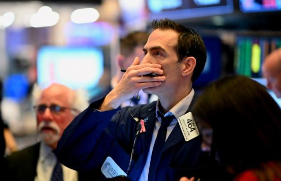 Wall Street: ayer fue la mayor caída diaria desde el año 1987. Foto: AFP