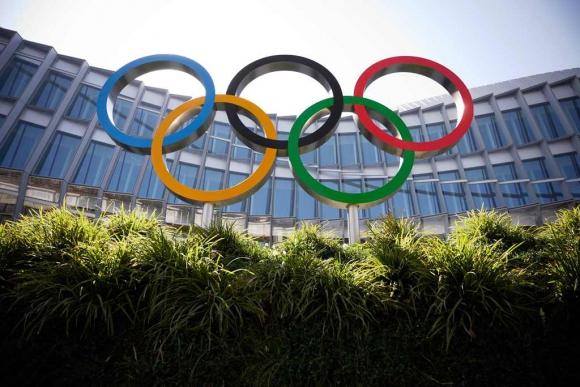 Aros Olímpicos en sede del COI en Lausana