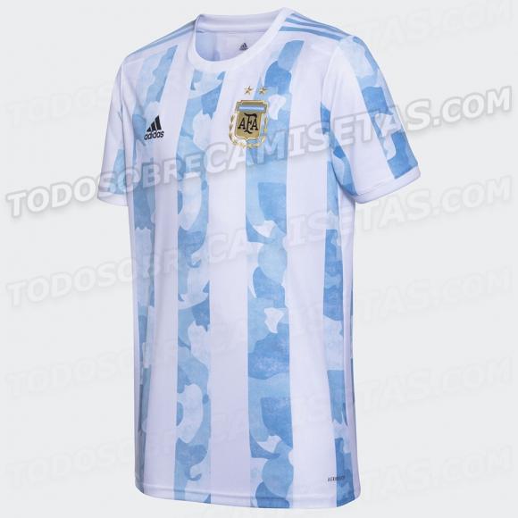 Así luce la nueva camiseta de Argentina 2020/21. Foto: Todo Sobre Camisetas.