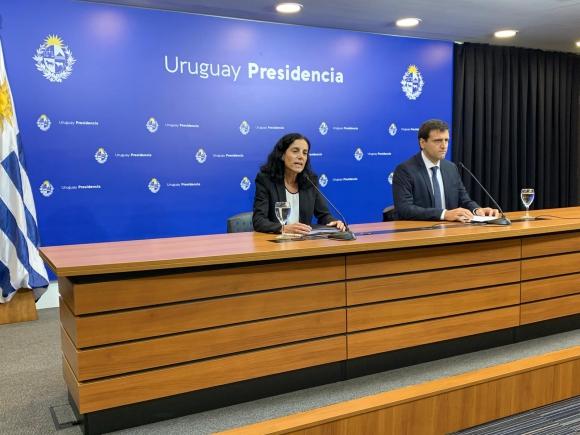 Arbeleche, este miércoles en conferencia de prensa en Torre Ejecutiva. Foto: Pablo S.Fernández