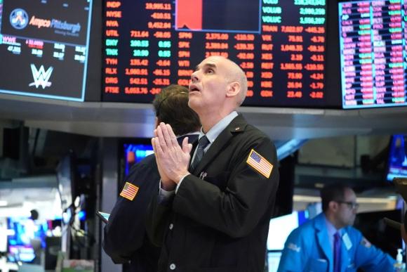 Operador en la Bolsa de Nueva York. Foto: AFP