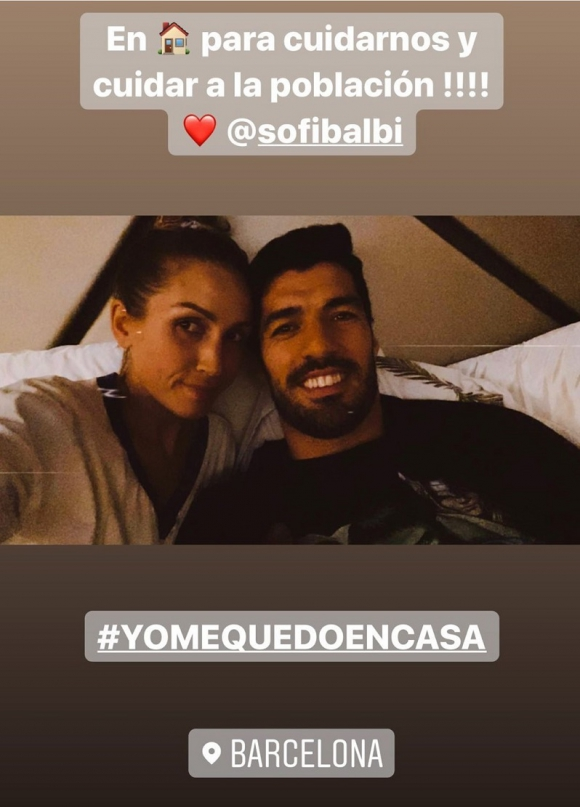 Sofía Balbi y Luis Suárez.