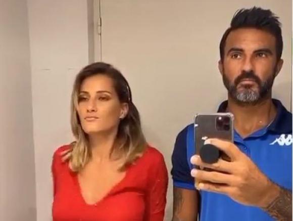 Fabián Cubero y su pareja.