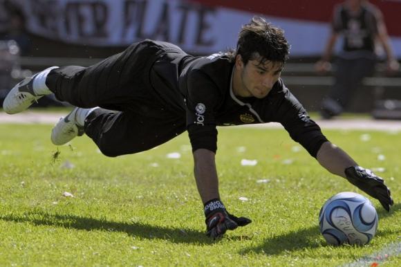 Javier García durante su pasaje por Boca Juniors. Foto: AFP.