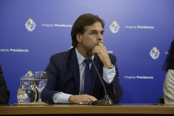 Lacalle Pou, este jueves en conferencia de prensa. Foto: Gerardo Pérez