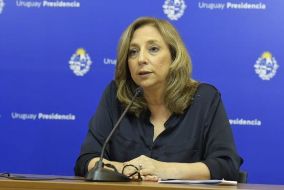 Mónica Bottero dio información sobre medidas relacionadas a violencia doméstica en conferencia. Foto: Leonardo Mainé