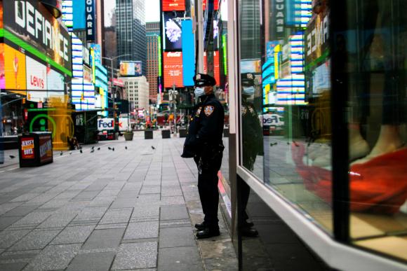 Nueva York está en cuarentena obligatoria por el coronavirus. Foto: Reuters