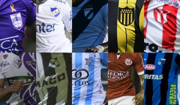 Escudos del fútbol uruguayo. Fotos: Archivo El País