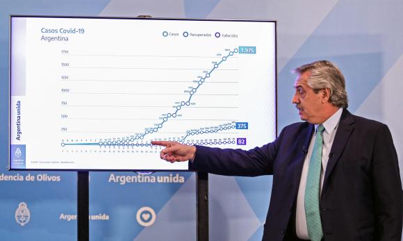 """Alberto Fernández: """"No sé cuándo termina el martirio"""" - 12/04/2020 ..."""