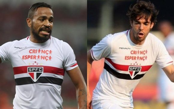 Álvaro Pereira y Kaká.