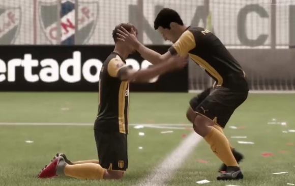 Peñarol ganó el clásico de fútbol virtual. Foto: Captura.