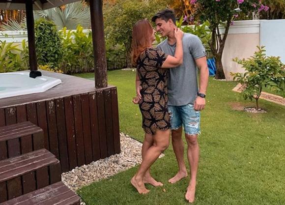 Thiago Ramos y Nadine Goncalves. Foto: Instagram.