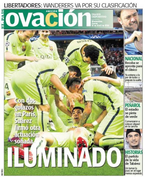 La tapa de Ovación tras la gran performance de Luis Suárez.