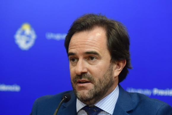 Germán Cardoso, ministro de Turismo en conferencia de prensa este miércoles. Foto: Francisco Flores.