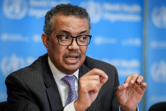 Tedros Adhanom Ghebreyesus, director general de la Organización Mundial de la Salud (OMS). Foto: AFP.