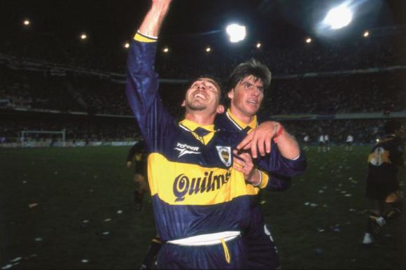 Gabriel Cedrés durante su pasaje en Boca Juniors.