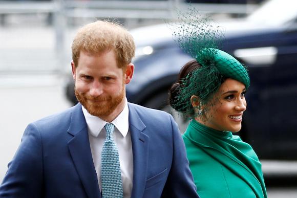 Meghan Markle y el príncipe Harry. Foto: Reuters