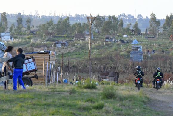 Nueva Santa Catalina: así lo denominan al asentamiento algunos ocupantes de un predio privado, instalados en enero de este año. Foto: Leonardo Mainé