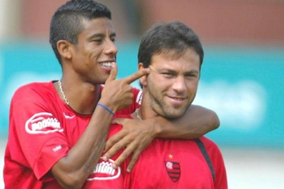 Horacio Peralta cuando fue jugador de Flamengo