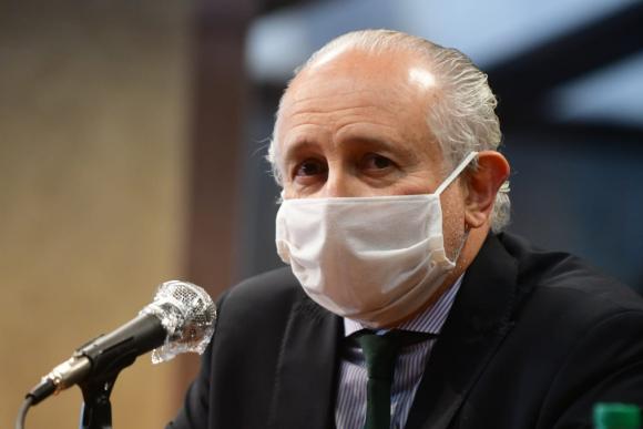 Pablo Da SIlveira, este lunes en conferencia de prensa. Foto: Francisco Flores