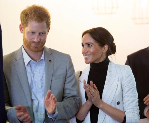 Meghan Markle y el príncipe Harry. Foto: Archivo