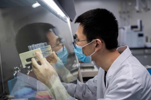 Sinovac Biotech, el laboratorio chino que produce una posible vacuna contra el coronavirus. Foto: AFP.