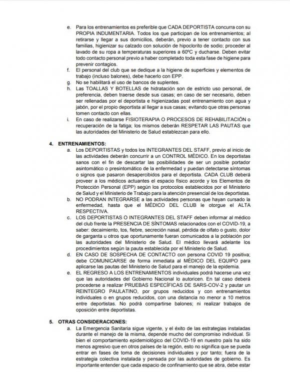 Protocolo de los entrenadores, jugadores y médicos del básquetbol.