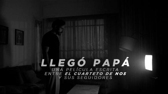 """""""Llegó papá"""", uno de los cortometrajes de El Cuarteto de Nos. Foto: Captura de YouTube."""