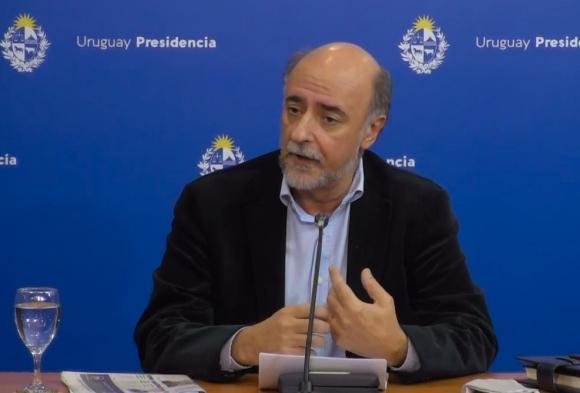El ministro de Trabajo, Pablo Mieres, este viernes. Foto: @MTSSuy