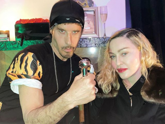 Steve Klein y Madonna. Foto: Instagram @stevekleinstudio