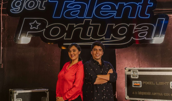 "Florencia Ribero y André en ""Got Talent Portugal"". Foto: Difusión"