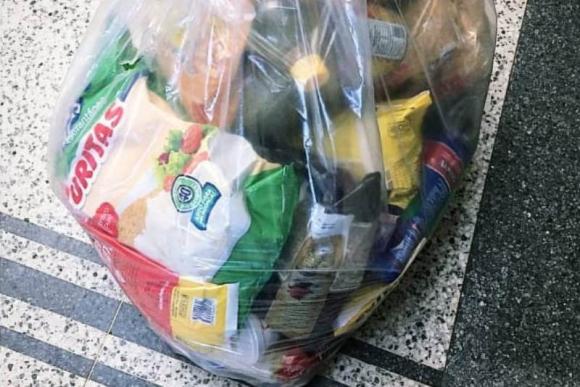 Las canastas entregadas a los jugadores de Racing.