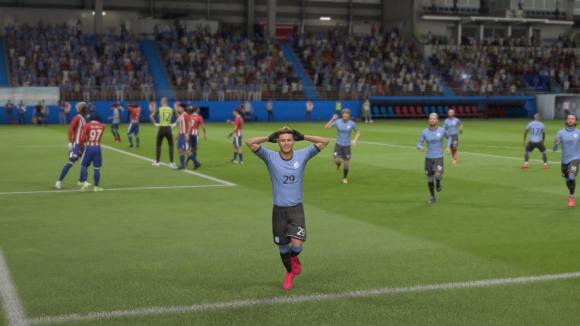 Selección uruguaya de fútbol virtual. Foto: Captura.