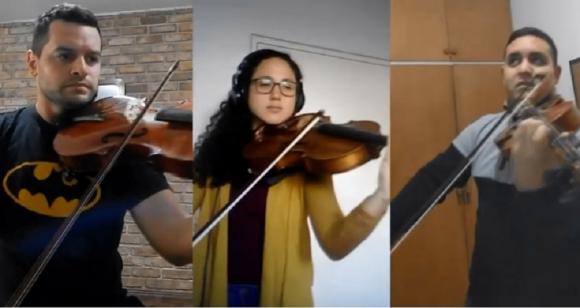 La Orquesta Sinfónica del Sodre, a distancia. Foto: Captura de YouTube