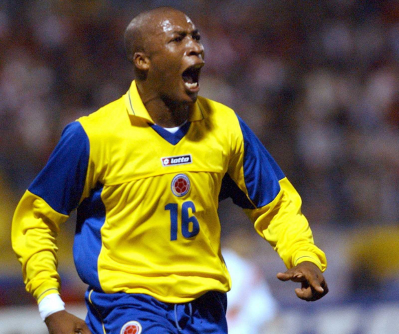 Edwin Congo con la camiseta de la selección de Colombia. Foto: EFE