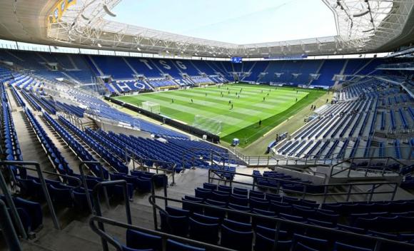El estadio vacío del Hoffenheim para el duelo ante Hertha Berlin. Foto: Reuters.