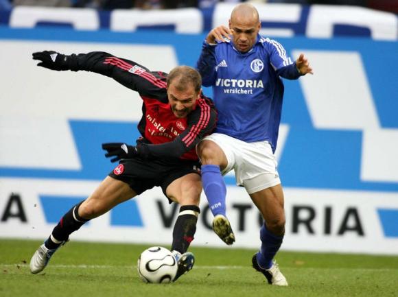 Gustavo Varela con los colores del Schalke 04. Foto: AFP