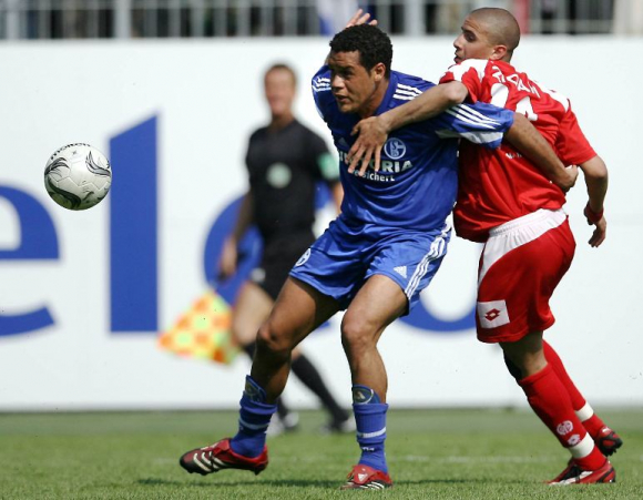 Darío Rodríguez con los colores del Schalke 04. Foto: AFP