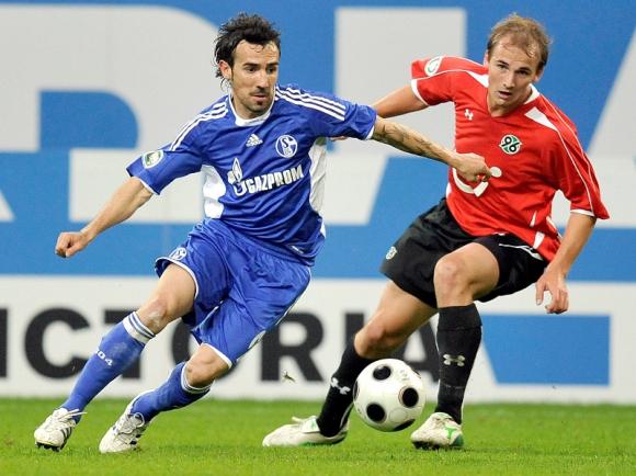 Vicente Sánchez en el Schalke 04. Foto: Archivo.