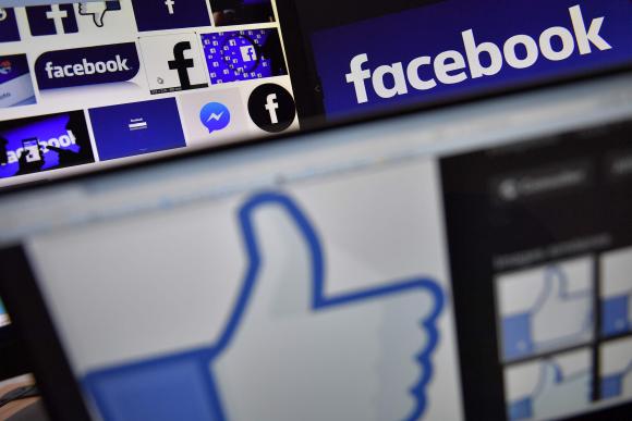 Logo de Facebook. Foto: AFP.