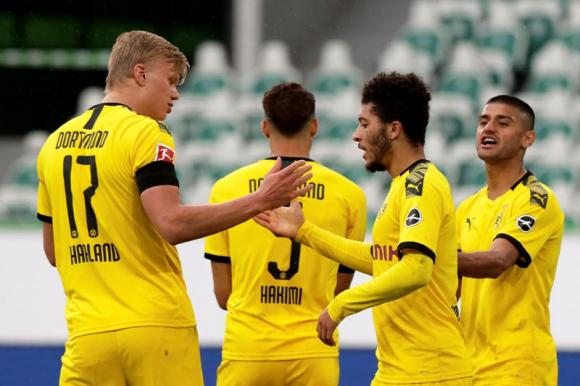 El festejo de los jugadores del Borussia Dortmund. Foto: Reuters.